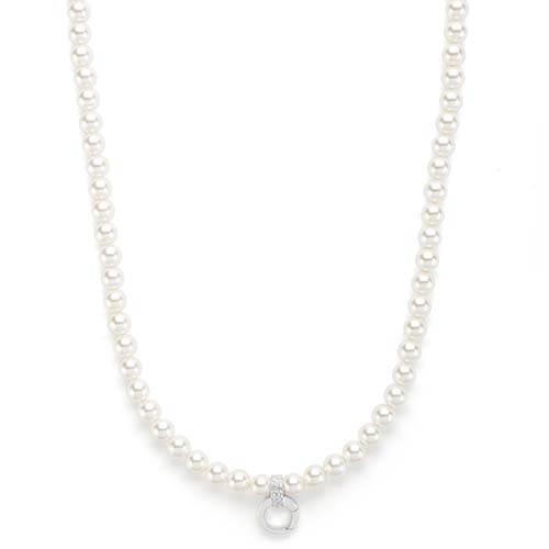 CN4012 18 20 Inch Silver with White Pearls Chain V3 copy